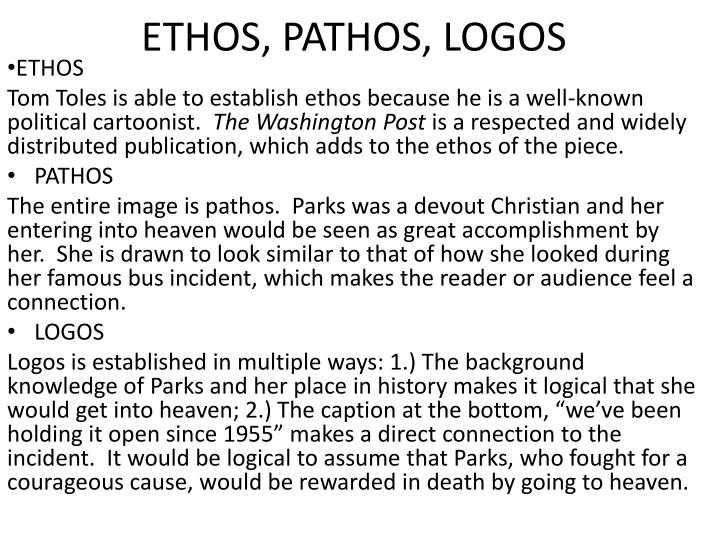 ethos logos and pathos in i ve been to the mountaintop Get in-depth analysis of i've been to the mountaintop, with this section on rhetoric  to find examples of logos, pathos, and ethos—the rhetorical triple crown.