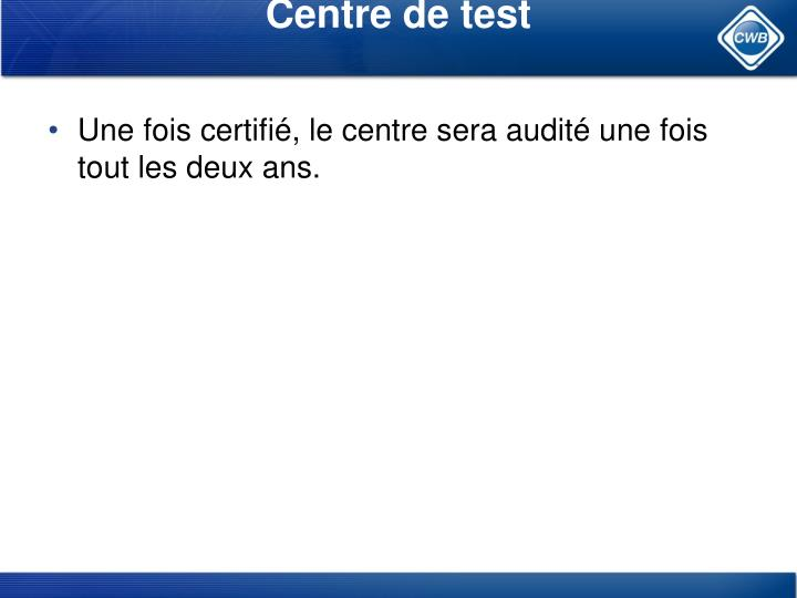 Centre de test