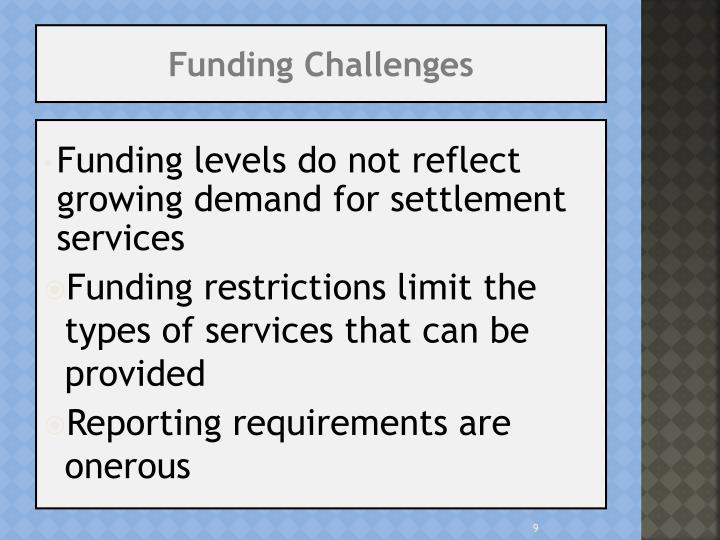 Funding Challenges