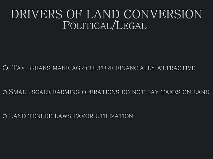Drivers of Land Conversion