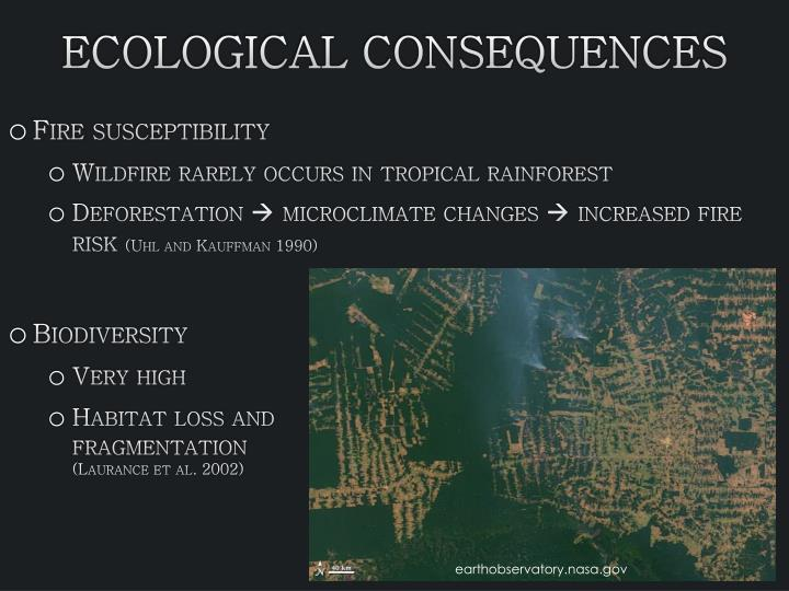 Ecological Consequences