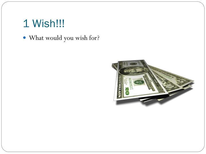 1 Wish!!!