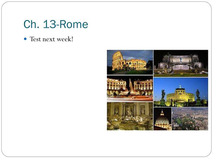 Ch. 13-Rome