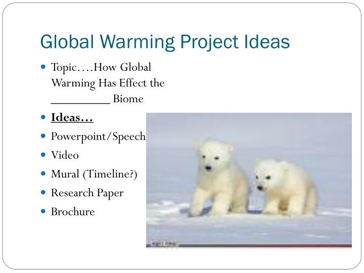 Global Warming Project Ideas