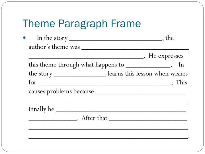 Theme Paragraph Frame