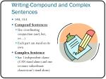 writing compound and complex sentences