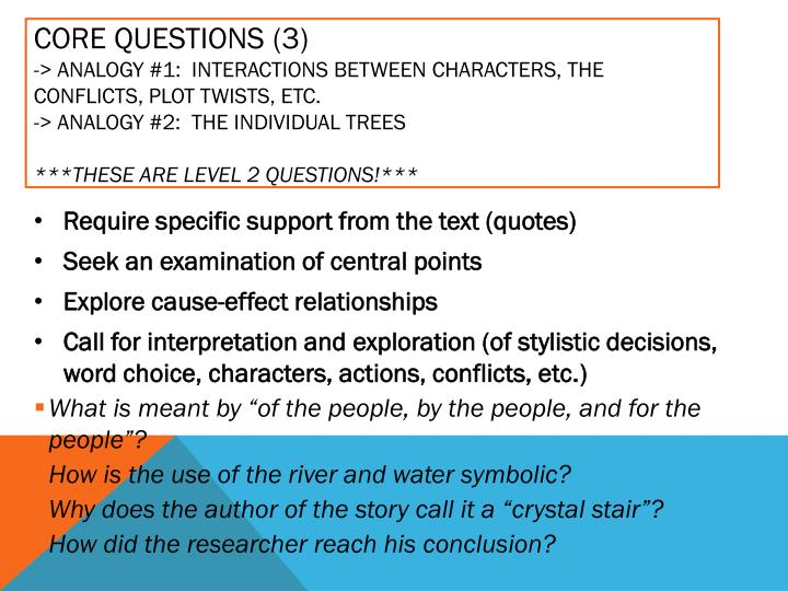 Core Questions (3)
