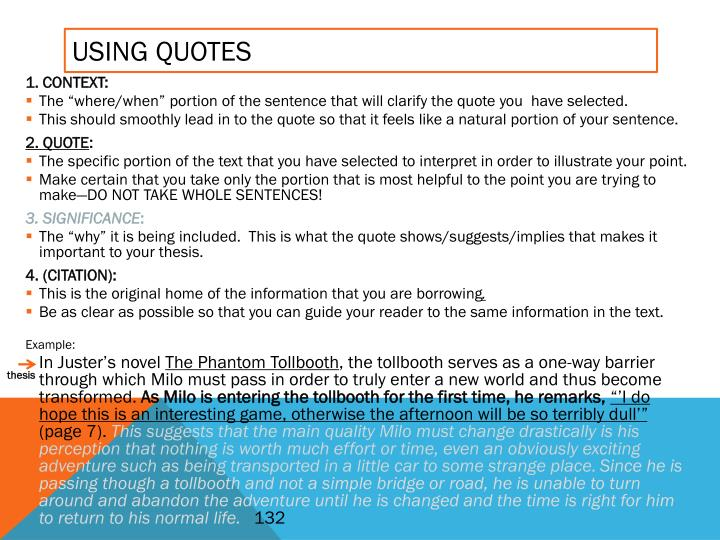 Using Quotes