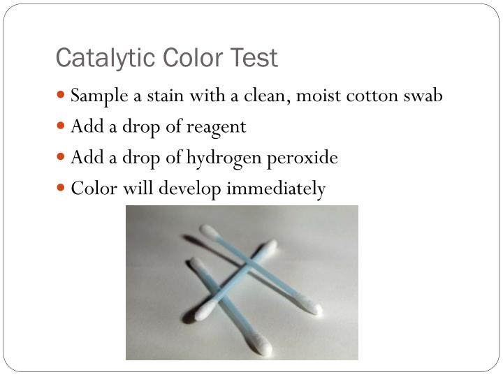 Catalytic Color Test