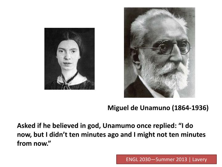 Miguel de Unamuno (1864-1936)