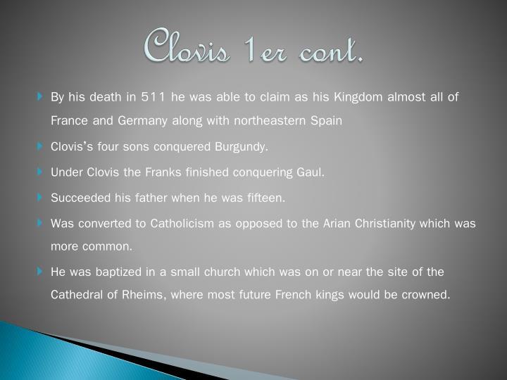 Clovis 1er cont.