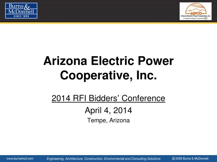 Arizona electric power cooperative inc
