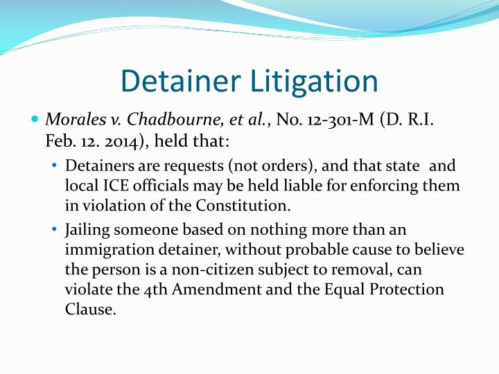 Detainer Litigation