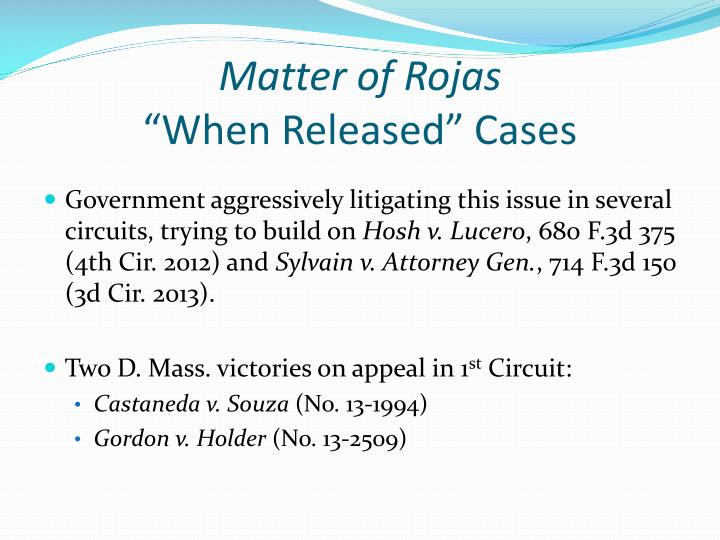 Matter of Rojas