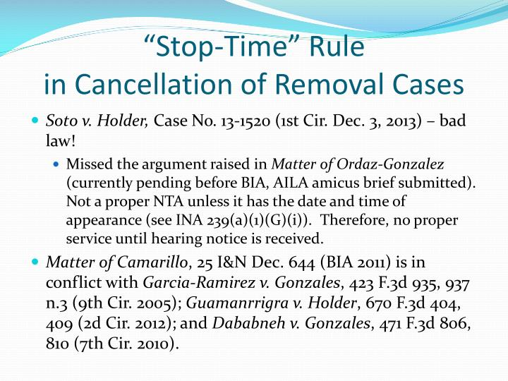 """""""Stop-Time"""" Rule"""