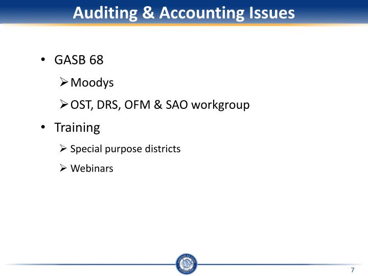 Auditing & Accounting Issues