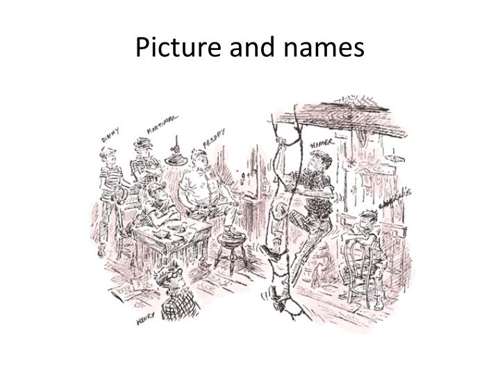 Picture and names