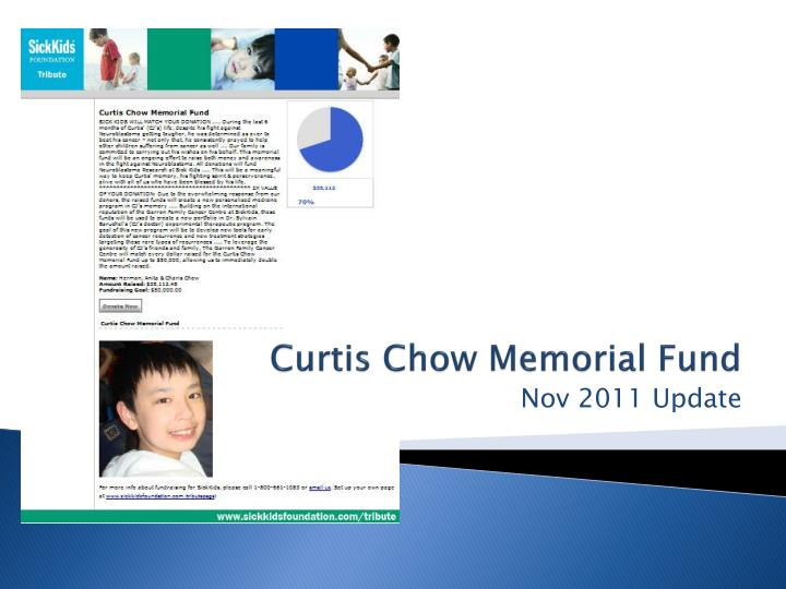 Curtis chow memorial fund