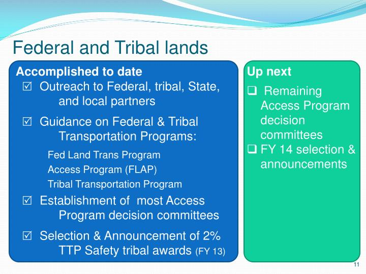 Federal and Tribal lands