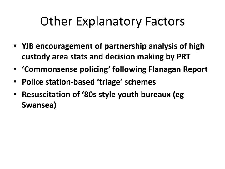 Other Explanatory Factors
