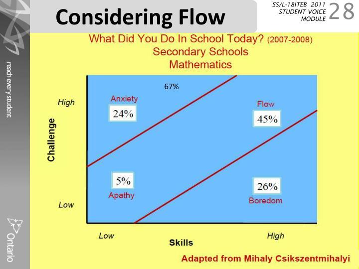 Considering Flow