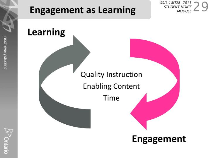 Engagement as Learning