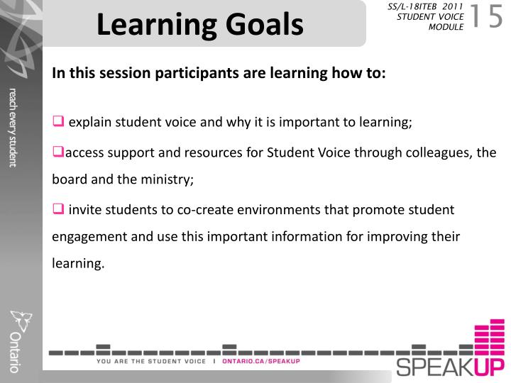 Learning Goals