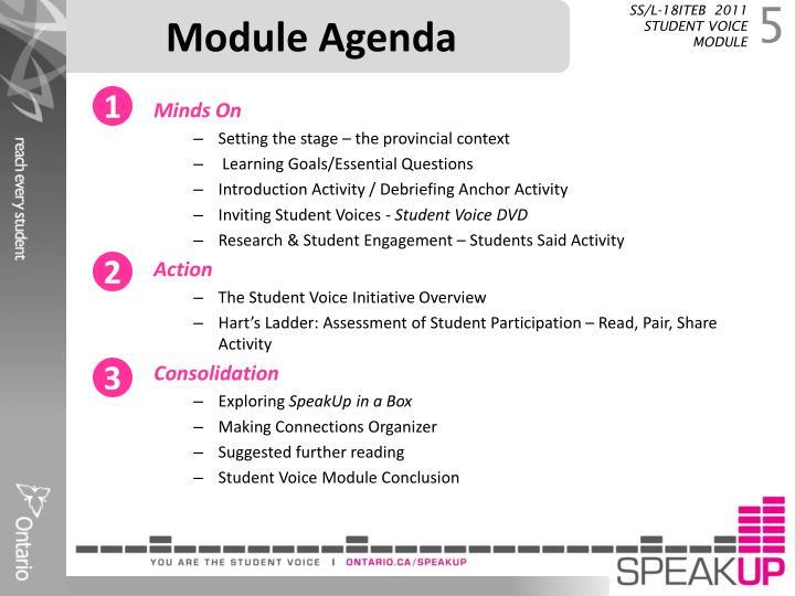 Module Agenda