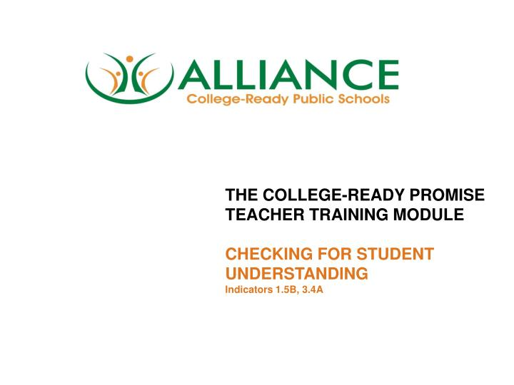 THE COLLEGE-READY PROMISE