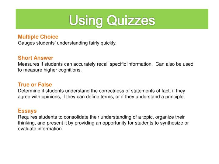 Using Quizzes