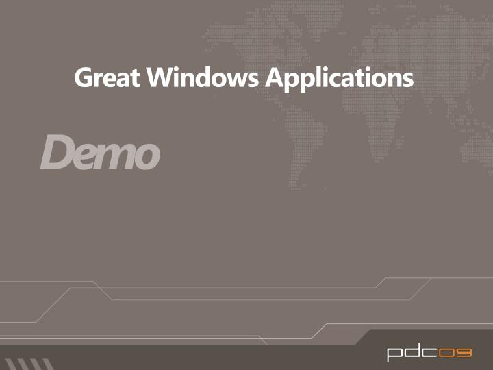 Great Windows Applications