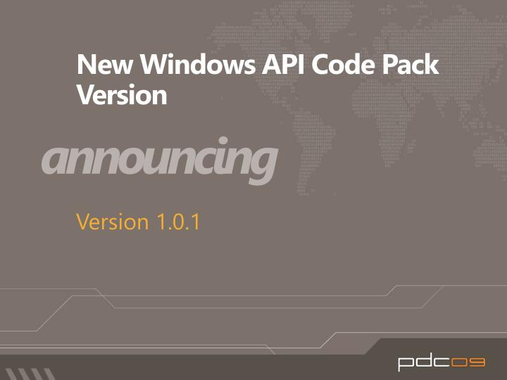 New Windows API Code Pack Version