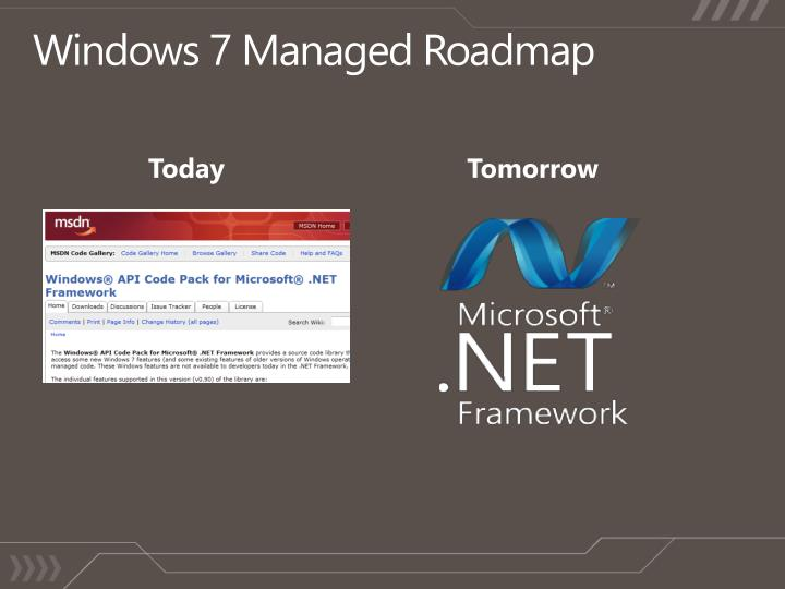 Windows 7 Managed Roadmap
