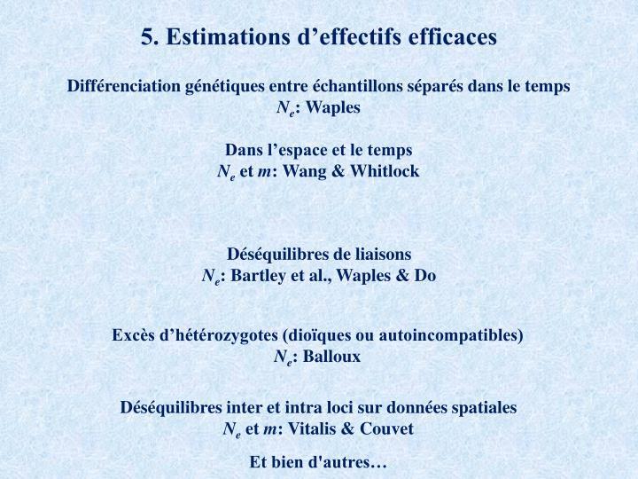 5. Estimations d'effectifs efficaces
