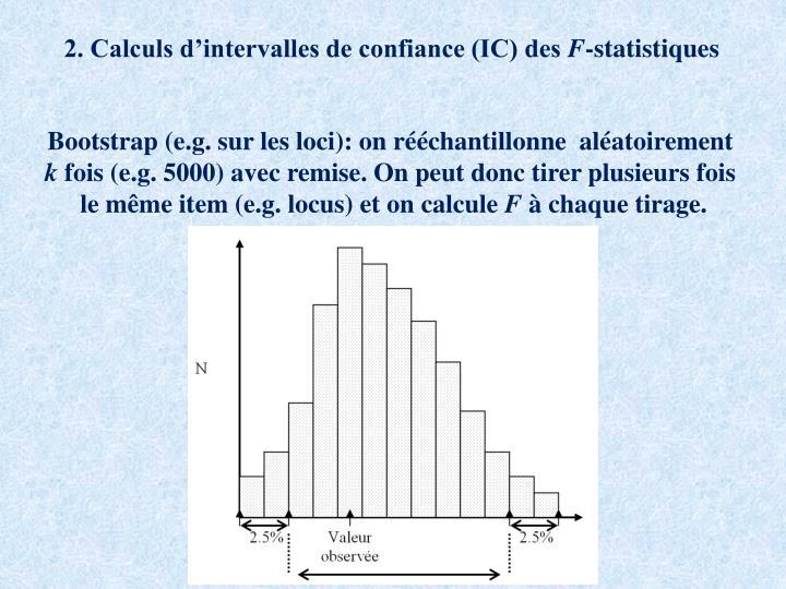 2. Calculs d'intervalles de confiance (IC) des