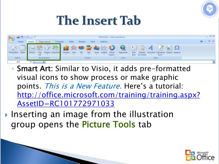 The Insert Tab