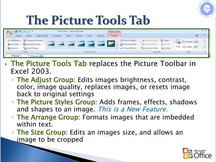 The Picture Tools Tab