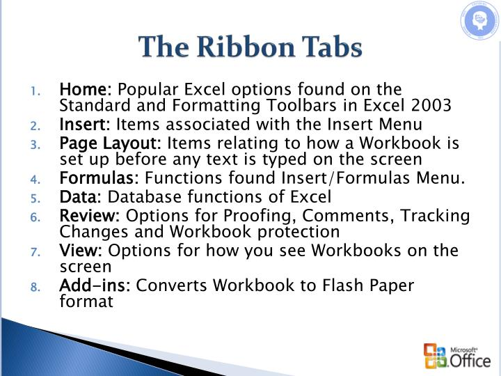 The Ribbon Tabs