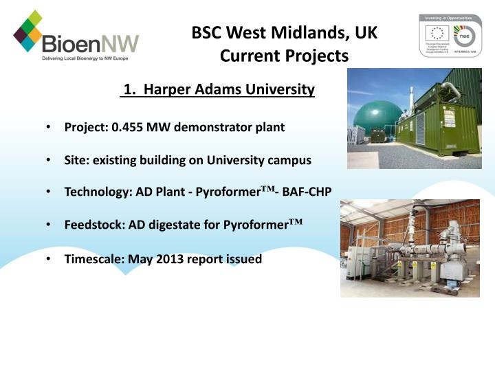 Bsc west midlands uk current projects
