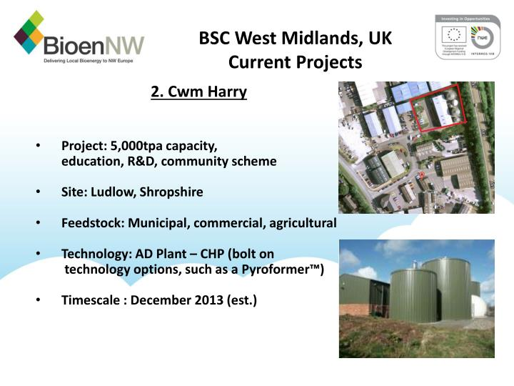 Bsc west midlands uk current projects1