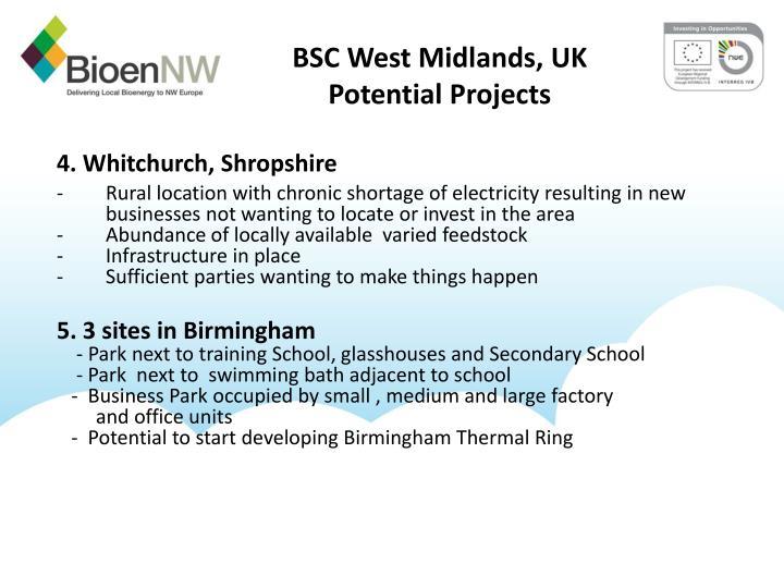 BSC West Midlands, UK