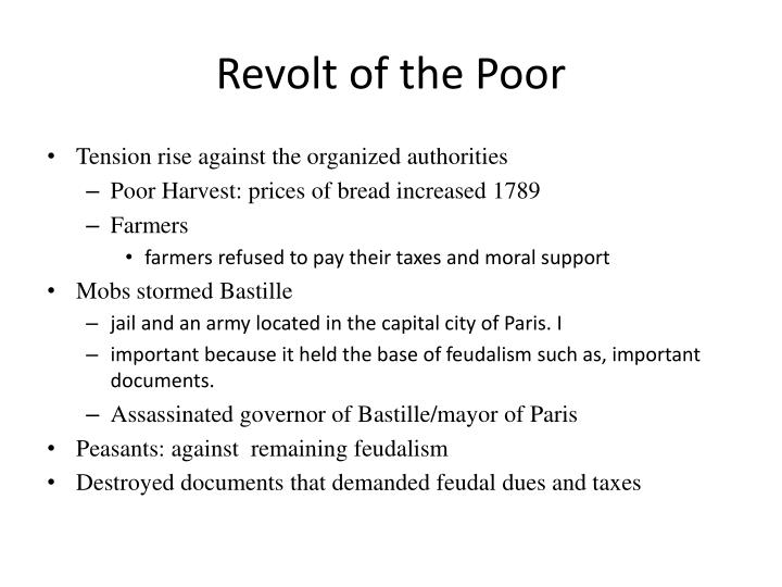 Revolt of the poor