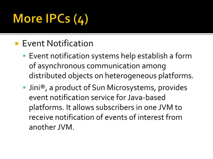 More IPCs (4)