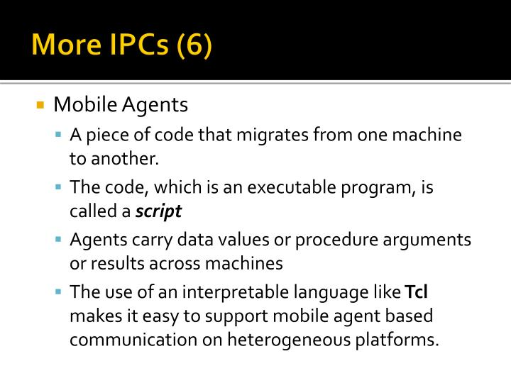 More IPCs (6)