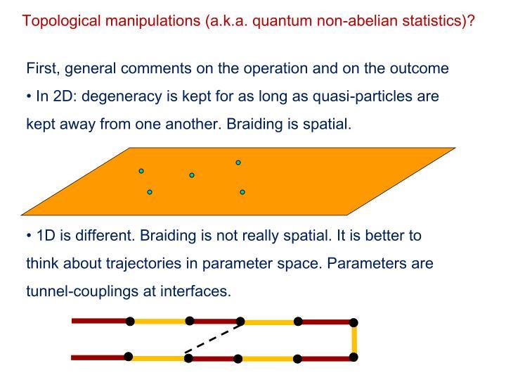 Topological manipulations (a.k.a. quantum non-