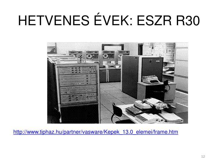 HETVENES ÉVEK: ESZR R30