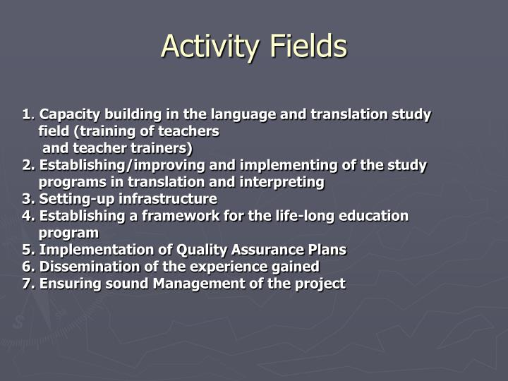Activity Fields