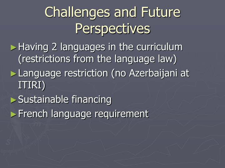 Challenges and Future Perspectives