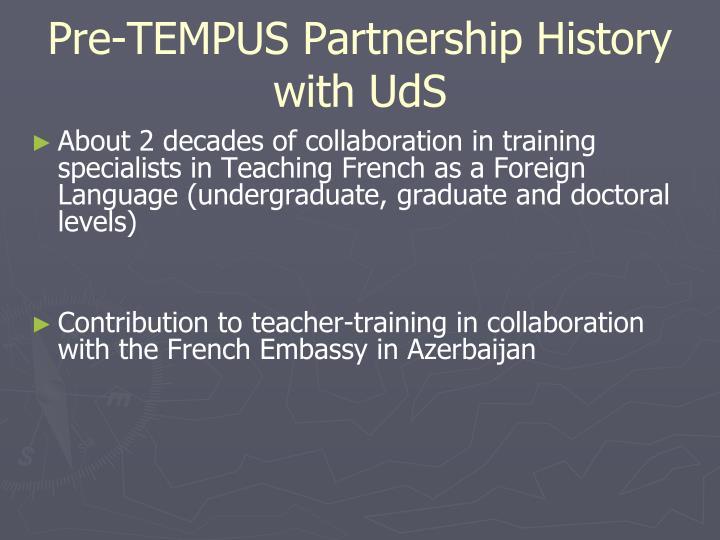 Pre-TEMPUS Partnership History