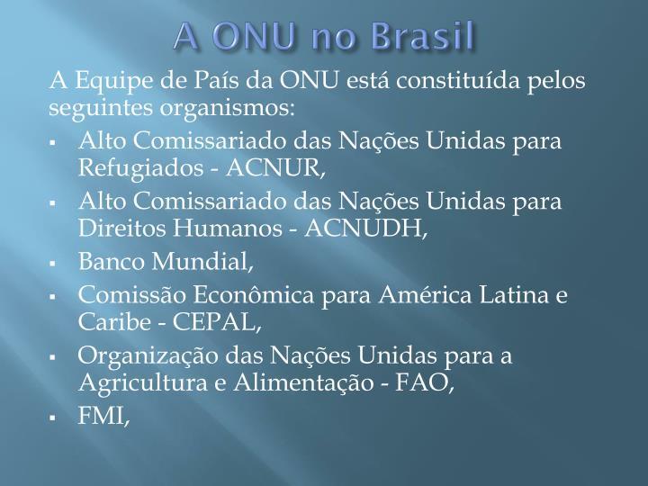A ONU no Brasil